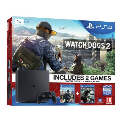 PS4 Slim 1TB Console with Watchdogs 2 Pre-order Hardbundle