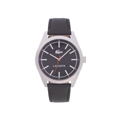 Lacoste Men's Edmonton Stainless Steel Black Strap Watch
