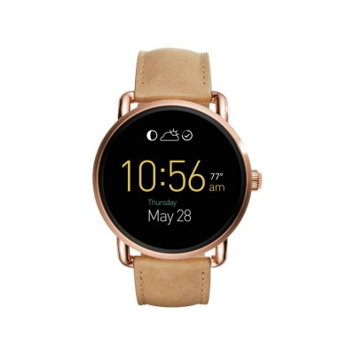 Fossil Q Wander Sand Leather Strap Watch