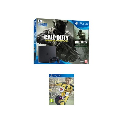 PS4 1TB Console, CoD Infinite Warfare, FIFA 17 Bundle
