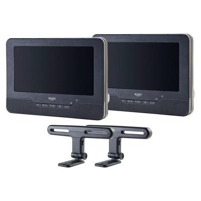 Bush 7 Inch Dual Screen In - Car DVD Player - Black