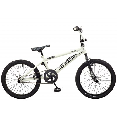 "Rooster Big Daddy 20"" BMX Bike - White & Black"