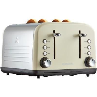 Cookworks 4 Slice Toaster  - Almond