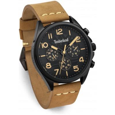 Timeberland Men's Bartlett Tan Leather Strap Watch