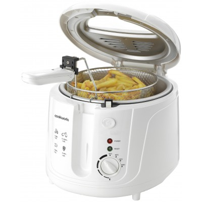 Cookworks DF5318-GS Deep Fat Fryer - White