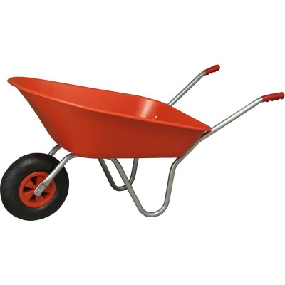 RED FLATPACKED WHEELBARROW FULL BOX