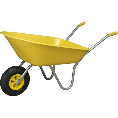 Full Box Flatpacked Wheelbarrow - Yellow