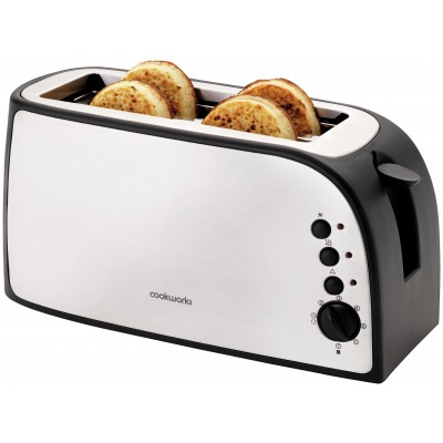 Cookworks 2 Slice Toaster - Stainless Steel