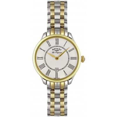 Rotary Ladies' Two Tone Gold Plated Elise Watch