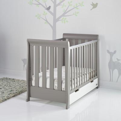 STAMFORD RETRO COT BEDTAUPE GREY WHITE