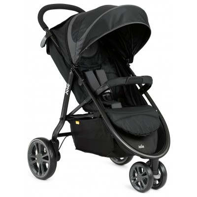 Joie Litetrax 3 Wheeler Midnight Pushchair - Black & Grey