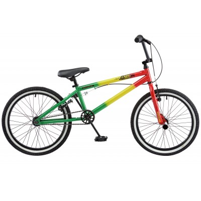 Rooster Jammin 20 Inch Bike - Red, Green & Yellow