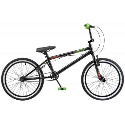 Rooster Jammin 20 Inch Adult Bike -  Black & Green