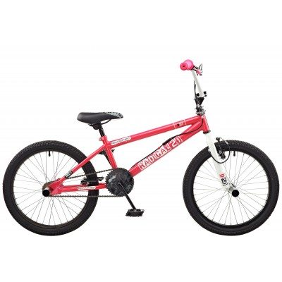 Rooster Radical 20 Inch Bike - White & Pink