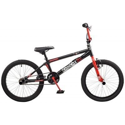 Rooster Radical 20 Inch Adult Bike - Black & Red