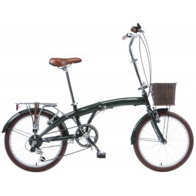 Viking Westwood 20 Inch Folding Adult Bike - Green