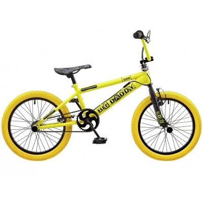 "Big Daddy 18"" BMX Bike - Yellow/Black"