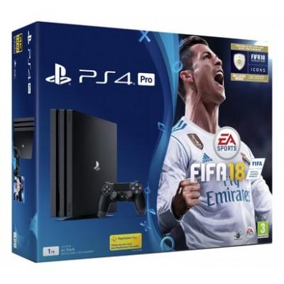 PS4 PRO BLACK 1TB AND FIFA 18 BUNDLE