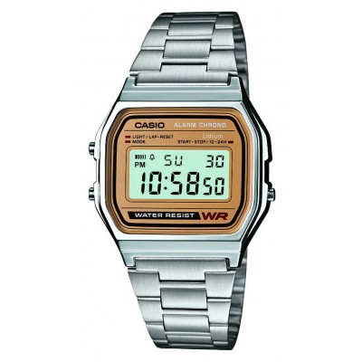 Casio Stainless Steel A158WEA-9EF LCD Display Bracelet Watch