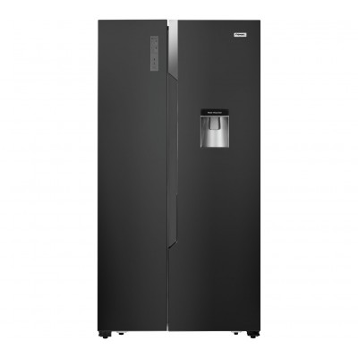 Fridgemaster MS91515BFF American Fridge Freezer - Black