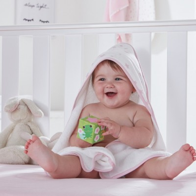 Silentnight Baby Hooded Towel - Pink Stars