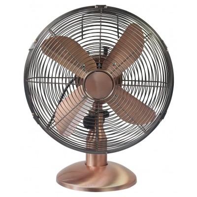 Challenge Copper Oscillating Desk Fan - 12 Inch
