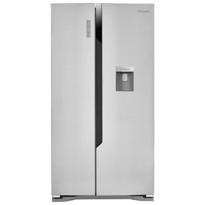 Fridgemaster MS91515DFF American Fridge Freezer - Silver