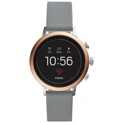 Fossil Venture Gen 4 HR Smart Watch - Grey Silicone