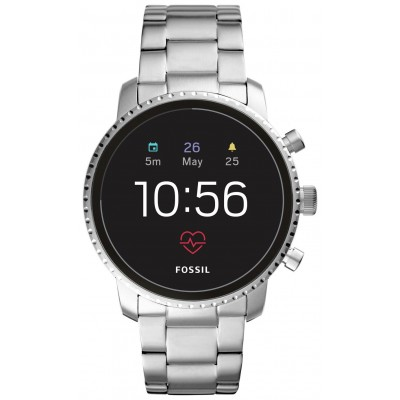 Fossil Explorist Gen 4 HR Smart Watch - Silver