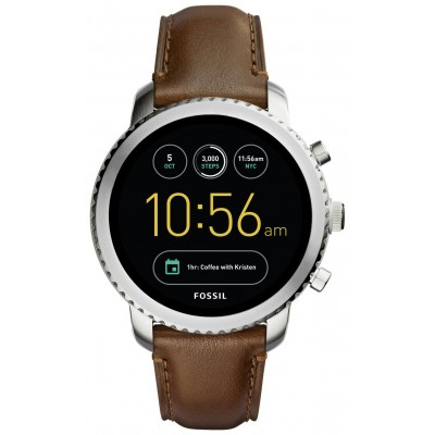 FOSSIL Q GEN3 LEATHER BROWN CHROME SW