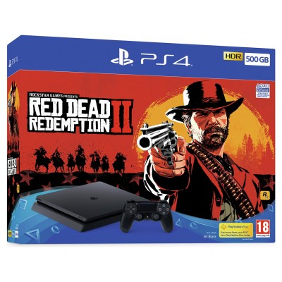 PS4 500GB Console & Red Dead Redemption 2 Bundle Pre-Order