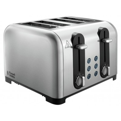 Russell Hobbs Worcester 4 Slice Toaster - Stainless Steel