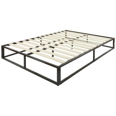 GFW Platform Double Bed Frame - Black