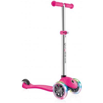 Globber Primo Lights Tri Scooter - Pink