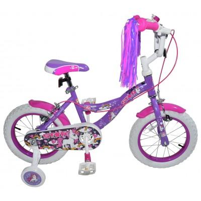Click n Go 14 Inch Unicorn Kids Bike