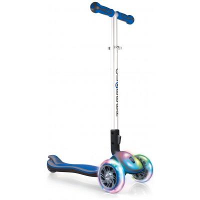 Globber Elite Lights Folding Scooter - Blue