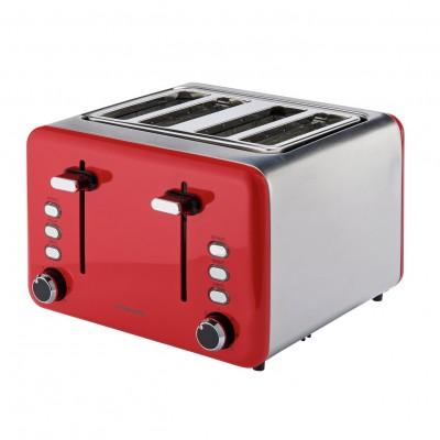 Cookworks 4 Slice Toaster - Red