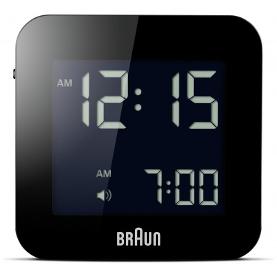 Braun Digital Travel Alarm Clock - Black