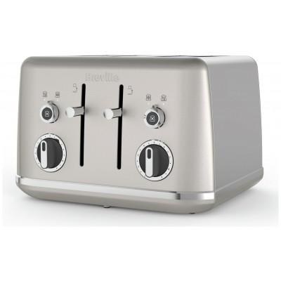 Breville VTT851 Lustra 4 Slice Toaster - Cream