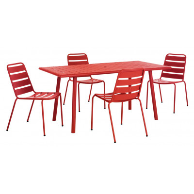HAB DARWIN 4 SEAT SET W CHAIRS RED